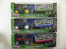 Teamsterz Tractor & Trailer Set 1/32 Crate Livestock Milk Tanker Teamsters BNIB