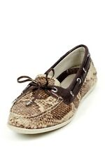 Women's Sperry Top Sider Montauk in Brown Python/Bronze Snake 360 lacing system