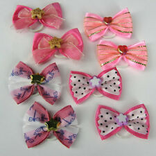 PINK  DOG TOP KNOTT GROOMING BOWS YORKIE MALTESE CHOOSE STYLE PK 2