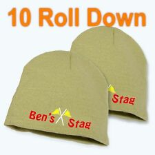 Best Impressions Roll Down Personalised Acrylic Beanie Different Colours New