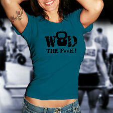 WOD THe F**k Training Kettlebell Fitness Crossfit Stamina Workout T-Shirt