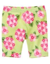 GYMBOREE TEA TIME AFTERNOON GREEN HYDRANGEA FLOWER BIKE SHORTS 3 4 5 6 7 8 NWT