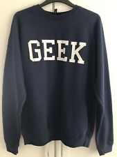 Topshop Navy White Geek Sweater Jumper BNWT Petite 8 10 12 M/L College Zoella