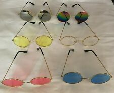 HIPPIE HIPPY 60S 70S OZZY JOHN LENNON ROUND SPECS FANCY DRESS GLASSES GOGGLES