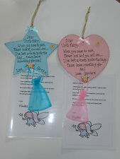 Personalised tooth fairy Plaque, with personalised letter from tooth fairy!