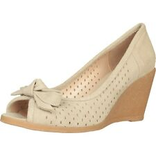 MADE IN ITALY Damen Schuhe , Keilpumps ,Women Shoes AUSVERKAUF Beige,Blau,Braun,