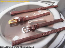 ITALIAN LEATHER STRAP BAND TO FIT GUCCI 3900L S-STEEL @ GP BUCKLE BLACK OR BROWN