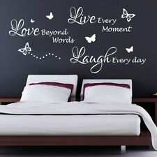 Live,Laugh,Love Quote Bedroom Wall Art Sticker, Decal, Graphic, Transfer b37