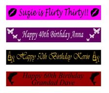 Personalised 30th 40th 50th 60th Birthday Banners Banner 100mm x 1 metre
