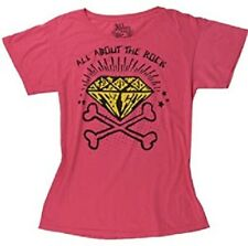 ABBEY DAWN BY AVRIL LAVIGNE ALL ABOUT THE ROCK PINK TEE T SHIRT SIZE (XS TO XL)
