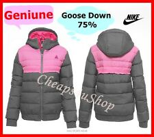 ※014※ Nike = Women 75% Goose DOWN Winter Hooded Jacket Coat UK 16-22 L-XL
