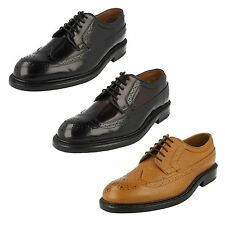 MENS CLARKS FORMAL BROGUE LEATHER CLASSIC SMART LACE UP SHOES EDWARD LIMIT FITG
