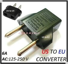 New US to EU Euro to UK Travel AC Power Plug Adapter Converter Travel Adaptors