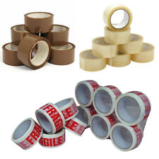 Vibac Brown/Clear/Fragile Packaging Tape 36 Rolls 48mmx66m !!
