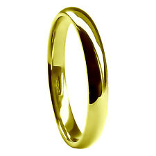 3mm 18ct Yellow Gold Wedding Rings Court Comfort Medium 3.5g HM 750 Solid Bands