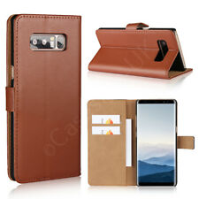 Samsung Galaxy Note 8 Phone Genuine Leather Wallet Case Flip Card Slot Cover New