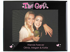 Personalised The Girls Friends Black Photo Frame - Best Friends 5x7 photoframe