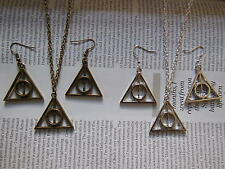 *New* Harry the wizard magic Triangle Charm Pendant Chain Necklace or Earrings