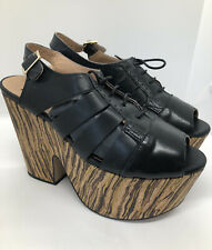 Urban Outfitters Black Tan Mallow Cork Platforms BNWT UK 4 37 Deena and Ozzy