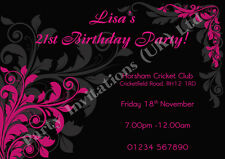 Personalised Invites 18th 21st 30th 40th 50th Birthday/Hen Party Invitations