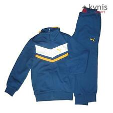 PUMA BOY'S FLEECE SUIT 1 CLOSED TUTA GINNASTICA FELPATA BAMBINO AVION BLU