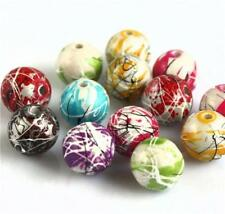 10mm  or 16mm ACRYLIC DRAWBENCH BEADS MIXED BRIGHT COLOURS TOP QUALITY STYLE 2