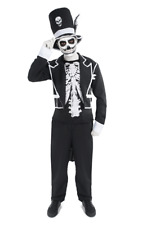 Mens Baron Samedi James Bond Zombie Halloween Fancy Dress Costume