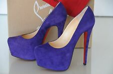 New Christian Louboutin Daffodile 160 Violette Purple Suede Pumps Shoes 36.5