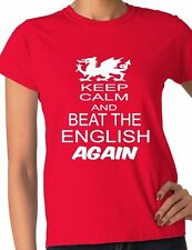 Rugby Wales Welsh  Beat The English 6 Nations World Cup Ladies T-Shirt Size S-XX