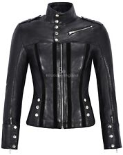 Ladies Suede Leather Jacket Black Fashion Biker Style | SOFT REAL LEATHER 4520