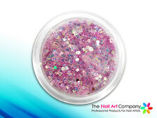 ORCHID - PRO GLITTER MIX NAIL ART POWDER - ULTRA, FINE & HEXAGON GLITTERS