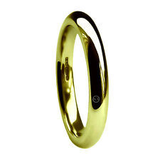3mm 18ct Yellow Gold Wedding Rings Court Comfort X Heavy 4.9g HM 750 Solid Bands