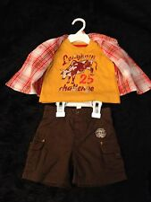 ~NWT BABY BOY 3 PC. SET~2 shirts & shorts~sz. 0-3 mo. & 3-6 mo.~Route 66