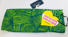 Forever 21 F21 Green Tribal Print Lime Festival Bandeau Summer Top BNWT UK M