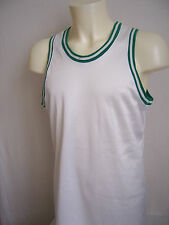 VINTAGE Maillot fabrication française Club Basket neuf taille XL coloris blanc