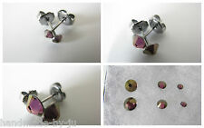 Crystal Lilac Shadow Surgical/Stainless Steel Stud Earrings Swarovski Elements