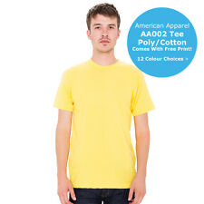 American Apparel AA002 Unisex Short Sleeve Crew Neck T-Shirt 12 Colours S - 2XL