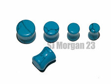 Turquoise Marble Effect Ear Stretcher Ear Ring Plugs. Sizes 5mm 6mm 8mm 10mm