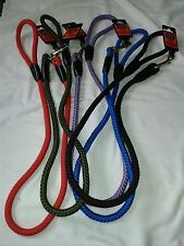 """Sharpes n Grant Walk """"R"""" Cise Nylon Rope Trigger Hook Lead in 5 colours"""