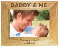 Personalised Engraved DADDY & ME Photo Frames - Fathers Day, Birthday Gift