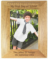 'My First Day At School' Personalised Photo Frame - New School Uniform Gift