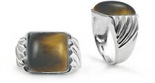 Sterling Silver Ring Square Tiger's Eye Stone 6750/TE/R