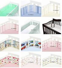 BreathableBaby Cot Cotbed Bumper Liner Airflow Mesh 4 side Breathable Baby