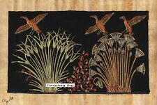 "Egyptian Papyrus Painting - Ducks in the Papyrus March 8X12"" + Hand Painted #87"