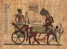 "Egyptian Papyrus Painting - Ramses II on his Chariot 7X9"" + Hand Painted #80"