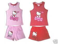 Hello Kitty Sommerset T-Shirt + Shorts 100% Baumwolle Freizeit Sanrio