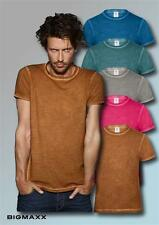 B&C T-Shirt Denim Plug in Men in Clash Colors Rundhals Kurzarmshirt Sommershirt