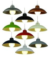 """12"""" Small Retro Metal Shade Coolie Glossy Lampshade Modern Ceiling Light Fitting"""