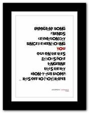 ❤  LED ZEPPELIN Led Zeppelin 3 ❤ typography poster art print - A3 A2 A1 A4
