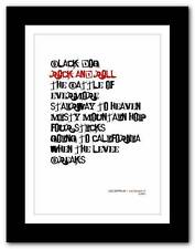 ❤ LED ZEPPELIN Led Zeppelin 4 ❤ typography poster art print - A3 A2 A1 A4